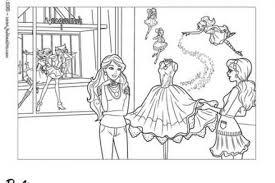 Coloriage Barbie et la Magie de la Mode Barbie Alice et Tante