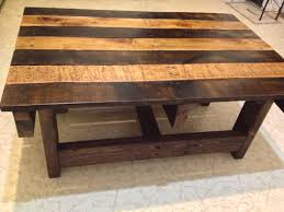 handmade coffee table crafted handmade reclaimed rustic pallet wood coffee table by