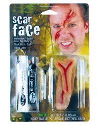 spirit halloween liquid latex scarface make up set buy latex scars special make up set