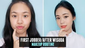 tutorial makeup natural wisuda daily makeup routine for first jobber after wisuda eng sub youtube