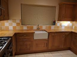 howdens solid oak fitted kitchen cabinets u0026 work surface u0026 sink
