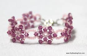make bead flower bracelet images Beaded flower motifs JPG