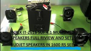 4 1 home theater riview and full setup of intex it 2616 suf 4 1 home theater a