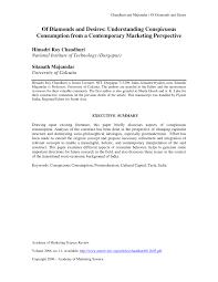 of diamonds and desires understanding conspicuous consumption