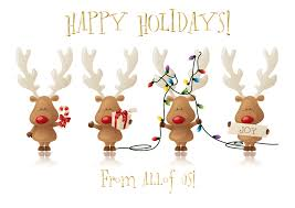 discount christmas cards cheery reindeer from all of us card discount greeting