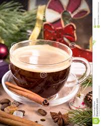 coffee cup among christmas decorations stock photo image 60699408