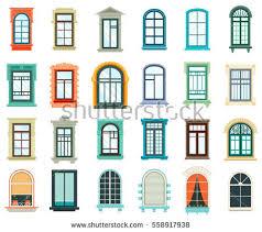 Retro Window Curtains Window Curtain Vector Set Download Free Vector Art Stock