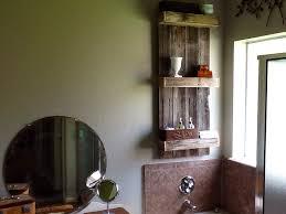Wood Bathroom Shelves by Remodelaholic Build An Easy Rustic Bathroom Shelf