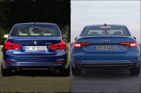 audi a4 comparison 2016 bmw 3 series vs 2017 audi a4 drive interior led