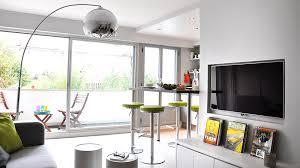 idee ouverture cuisine sur salon meuble bar separation cuisine americaine rnovation du0027une