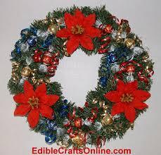 candy wreath christmas wreath ideas a candy wreath from ediblecraftsonline