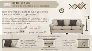 milari linen sleeper sofa tehranmix decoration
