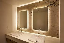 backlit bathroom vanity mirror backlit bathroom vanity mirrors awesome and beautiful backlit