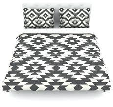 Geometric Duvet Cover Geometric Duvet Covers Lane Black Cream Geometric Featherweight