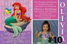 20 printed little mermaid ariel birthday invitations photo 3