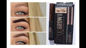 Tattoo Eyebrows By Maybelline | brow tattoo does it really work testing maybelline tattoo brow