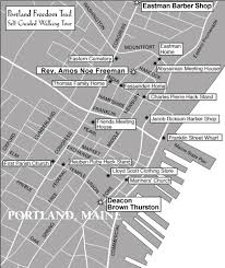 Portland Maine Map by Portland Freedom Trail Offers Self Guided Tour Of Abolitionist