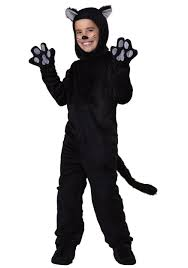 Kitten Costumes Halloween Child Black Cat Costume