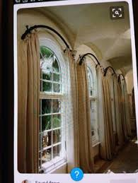 Curved Window Curtain Rods For Arch How To Charge For Custom Drapes Arched Window Treatments Arch