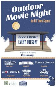 outdoor movie night in old town square downtown fort collins