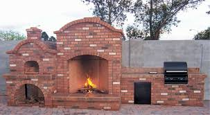 decorating brick rumford fireplace with oven for outdoor heat
