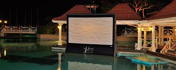 How To Make A Backyard Movie Screen by 4 Pro Tips For The Perfect Pool Party Movie Night Blue Haven