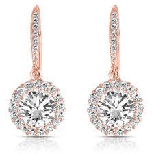 earrings photo collette z sterling silver cubic zirconia clasp drop