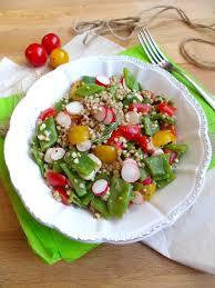 cuisiner les radis roses salade de sarrasin haricots plats tomates cerises et radis roses