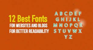 12 best fonts for websites and blogs for better readability