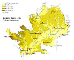 Hertfordshire England Map by Charles Bridgeman In Hertfordshire Herts Garden Trust