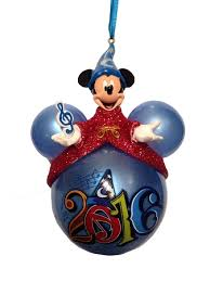 ornament 2016 icon sorcerer mickey mouse on top