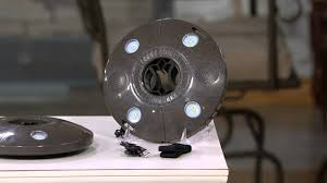 Patio Umbrella Lights Battery Operated by Patio Mate Led Umbrella Light With Bluetooth Speakers On Qvc Youtube