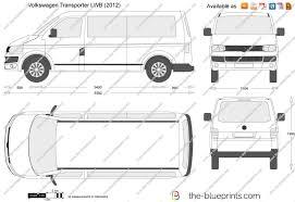 volkswagen van drawing the blueprints com vector drawing volkswagen transporter t5 2 lwb