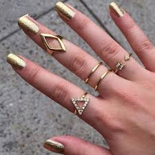 knuckle finger rings images Geometric knuckle finger rings set wearethebikerstore jpg