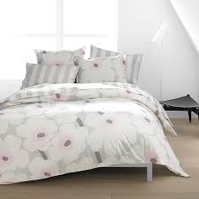 marimekko unikko soft pink duvet set bedding pinterest