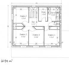 plan maison 4 chambre plan maison 4 chambres a etage immobilier pour tous immobilier