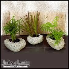 small planter set of 3 small assorted volcanic rock planters range in size