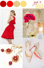color story red gold the perfect palette