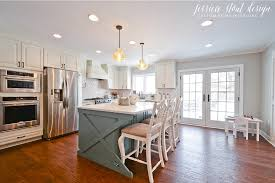 jessica stout design entire home renovation with a blue kitchen
