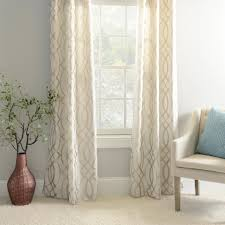 metallic avalon curtain panel set 84 in champagne metallic and