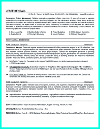 sle resume format for journalists codes construction project manager resume for experienced one must be