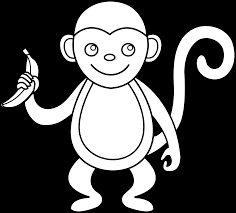 monkey clipart black and white free clip art images freeclipart pw