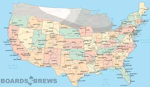 Beer Map Usa by Boards And Brews Snowboarding Beer Awesome