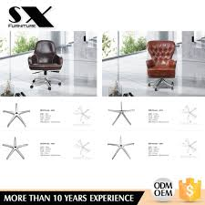sales swivel aluminum office chair 5 star chair base for metal