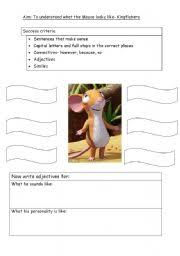 describe the mouse from the gruffalo