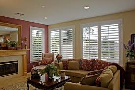 custom plantation shutters for living room windows