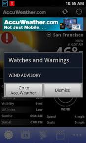 accuweather android app images of the accuweather app for android image from accuweather