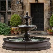 chic water fountain in backyard water fountain backyard pool