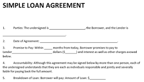 sample contract for loaning money to a friend best resumes