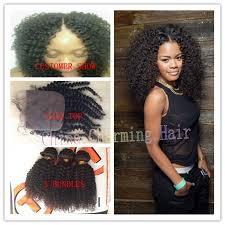 mongolian hair virgin hair afro kinky human hair weave free part silk base top closure virgin mongolian hair bundles